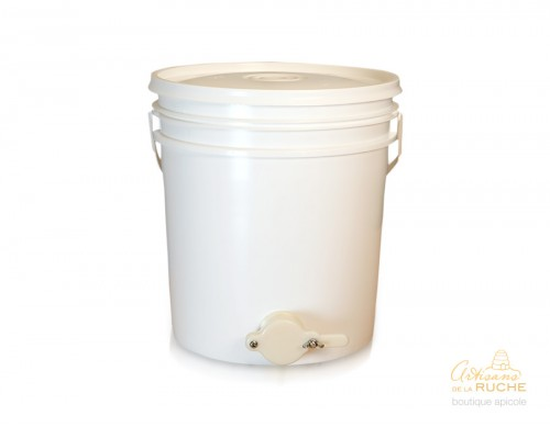 Pail with honey gate and lid